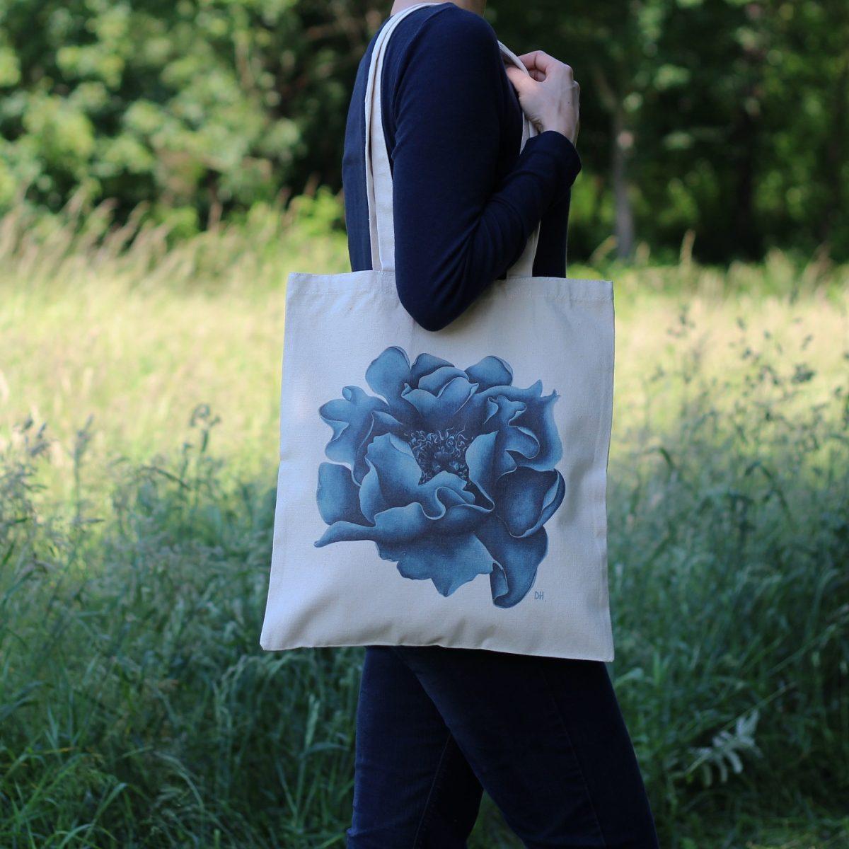 Canvas tas 'Shades Of Blue'