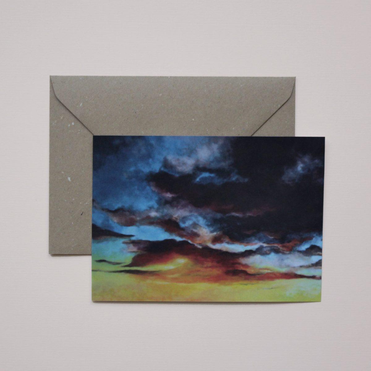 Kunstkaart - Moody sky