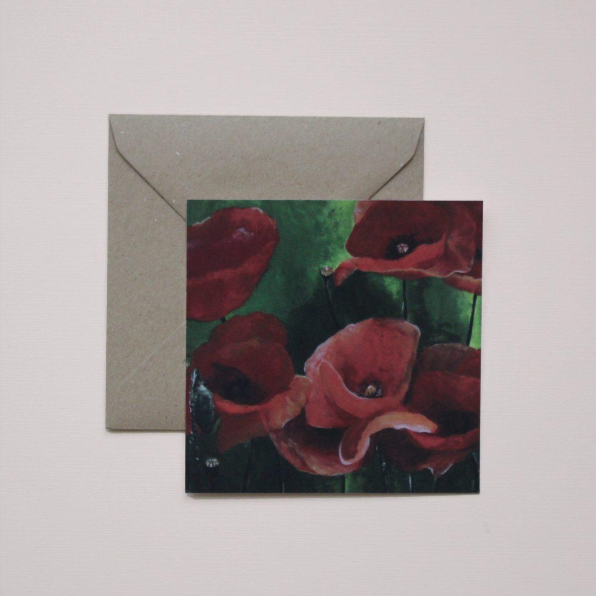 Kunstkaart - Poppies pt1
